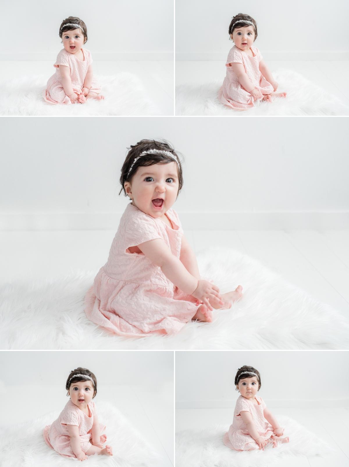 bébé de 6 mois tient assis