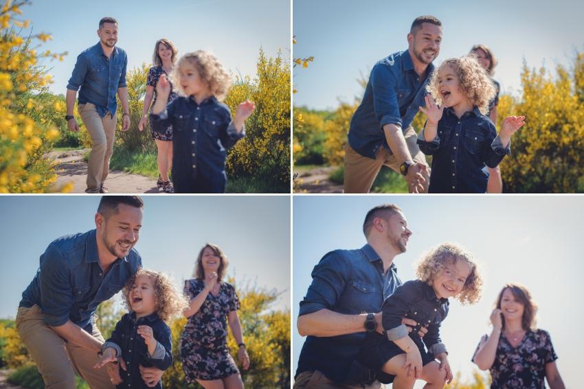 Joyeuse séance photo famille dans la nature à Bruz